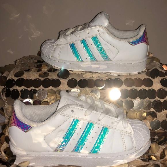 adidas superstar hologram stripes